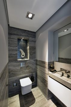 """here are some small bathroom design tips you can apply to maximize that bathroom space. Checkout Of The Best Modern Small Bathroom Design Ideas"""". Modern Small Bathrooms, Luxury Master Bathrooms, Modern Bathroom Design, Bathroom Interior Design, Modern Interior Design, Master Baths, Small Kitchens, Contemporary Design, Bad Inspiration"""