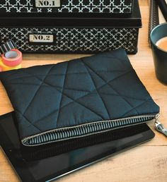 Diese schmucke Tablet-Tasche einfach mal selbst nähen - Schnittmuster und Nähanleitung via Makerist.de