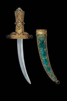 A beautiful dagger with vermeil mounts, Asia 20th century