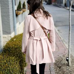 I've been wearing this #blushpink trench all week - it's perfect to throw on in the mornings when I'm headed out the door to work and adds a touch of color - perfect for spring! http://liketk.it/2qEyp #liketkit @liketoknow.it  PS Have you heard about the new @liketoknow.it app - so much easier to shop all your favorite bloggers' posts. Here's how to use it: 1) download the app 2) like OR screenshot this pic 3) open your app to find all the items ready to shop