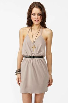 Tied Up Dress - Taupe