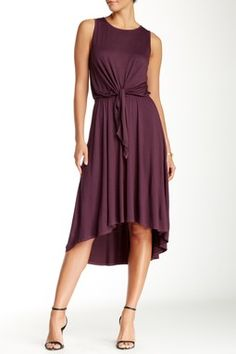 Tie Front Dress with Back Detail