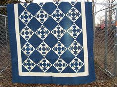 Indigo and white quilt  1880-1900  http://pinterest.com/anniesews/two-color-quilts/