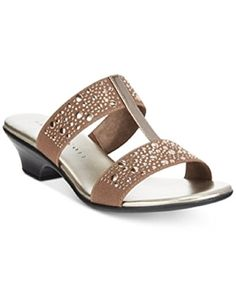 bda5d22bf Karen Scott Eddina Embellished Slide Sandals Bronze 9M -- You can find out  more details