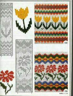 California poppy and Tulip fair isle design Fair Isle Knitting Patterns, Fair Isle Pattern, Knitting Charts, Knitting Designs, Knitting Stitches, Knit Patterns, Knitting Projects, Cross Stitch Patterns, Crochet Chart