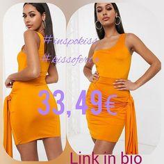 """Inspírate"" Vestido ajustado en naranja teja con lateral drapeado y diseño asimétrico de Femme Luxe 4199  3349 (-20%) #dress #femmeluxe #inspokiss #kissoferta #ideal #grupoinstagram #blogger #model #instagood #style #fashion #tagsforlike #outfit #girls #cute #glam #influencer #kissmylook #tw #asmr feliz día kissess  Link in bio"