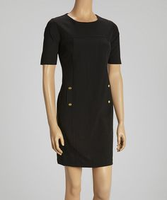 Take a look at this Black Button Dress by Shelby & Palmer on #zulily today!