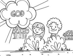 biblical story the servent and forbidden apple in adam and eve story coloring page - Adam Eve Story Coloring Pages