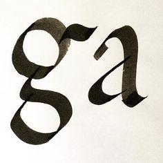 ga -- #type #typedesign #calligraphy #handlettering #typefacedesign #font #fontdesign