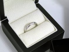 Bespoke Classic Court #Wedding Ring set with Three #Diamonds | OrlaJames.com