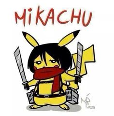 Mikachu - attack on titan and pokemon crossover #anime #manga