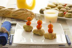 Cromesquis de espinaca y gambas by webos fritos, via Flickr