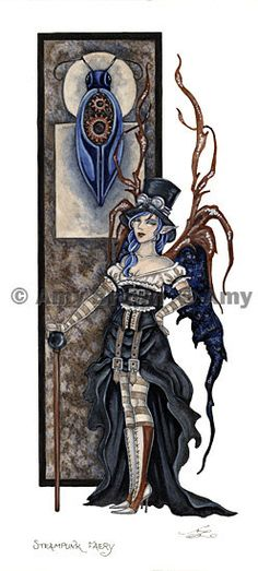Steampunk Fairy PRINT LIMITED EDITION by Amy Brown by AmyBrownArt, $10.00
