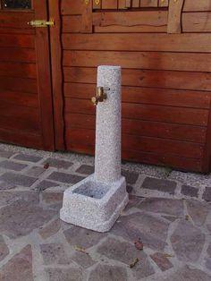 Fontanella Zibellino Bardiglio - Idra Arredo Giardino Backyard, Stuff Stuff, Rain Shower Heads, Cement, Ornaments, Patio, Backyards