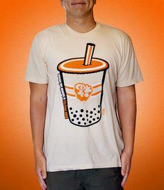 Boba Milk Tea T-Shirt #Chinese #tee #design #illustration #Engrish
