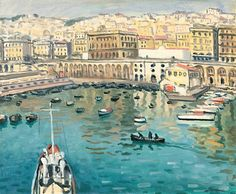 The Harbor in front of the Chamber of Commerce Albert Marquet - circa Henri Matisse, Rio Sena, Raoul Dufy, Post Impressionism, French Artists, Art Plastique, Landscape Paintings, Landscapes, Art Day