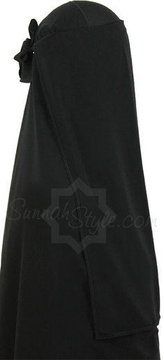 Three Piece Niqab (Black) by Sunnah Style #SunnahStyle #niqabstyle #niqaab