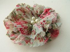 Tea Rose Home: Tutorial ~Fabric Flower~