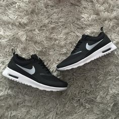 Nike Air Max Thea Brand new in box. Nike Air Max Thea in black, white and gray. Size 6 in womans. Nike Shoes Athletic Shoes