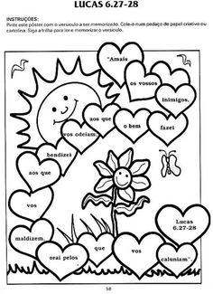 EBD Infantil é bom demais!!!: Atividades sobre a Bíblia Bible Activities, Classroom Activities, Coloring Books, Coloring Pages, Kids Church Lessons, Child Sponsorship, Bible Crafts For Kids, Bible Lessons For Kids, Kindergarten Reading