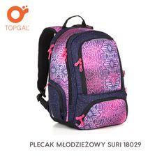 Dziewczęcy plecak dwukomorowy Topgal dla młodszej i starszej uczennicy