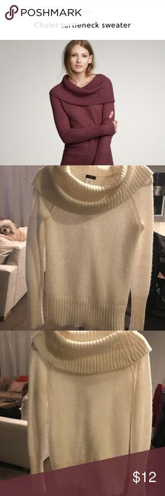 J Crew Sweater J Crew Chalet Turtleneck Sweater. Color is a cream and size is small. I wore this once for a holiday dinner. J. Crew Sweaters Cowl & Turtlenecks