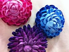 Image result for folded fabric roses