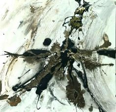 Feuille D'or, Laque, Abstract, Artwork, Animals, Framed Canvas, Charcoal Picture, Framing Canvas, Turntable