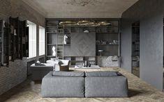 Дизайн-проект в клубном доме Depre Loft - 3D-проекты интерьеров в стиле лофт   PINWIN - конкурсы для архитекторов, дизайнеров, декораторов
