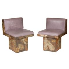 A  Rare Pair of Swivel Side Chairs by Paul Evans | From a unique collection of antique and modern side chairs at http://www.1stdibs.com/furniture/seating/side-chairs/
