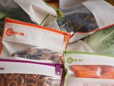 Replace your plastic baggies with neat-os!  neat-os reusable snack, sandwich and gallon bags are food safe and easy to wash! 100% made in the USA!