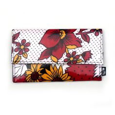 Khanga Clutch Bag  Red Floral by thesleepygiraffe on Etsy