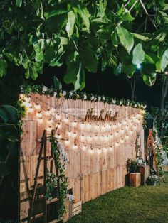 Cheap backyard wedding decor string light hanging bulbs backdrops outdoor bac bac b outdoor wedding ceremony decor ribbon curtains arch wood roses flowers greenery riverside {ashley hall photography} mccormick weddings com Rustic Wedding Backdrops, Outdoor Wedding Decorations, Bridal Shower Decorations, Backdrop Wedding, Wedding Rustic, Trendy Wedding, Outdoor Weddings, Unique Weddings, Country Weddings