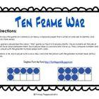 Ten Frame War Cards, 0-20
