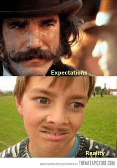 When most people try to grow a mustache....