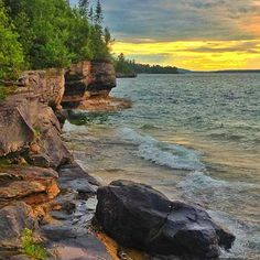 "Winning ""Pure Michigan Moment"" - of a sunset over Lake Superior near Christmas, MI - will appear in the 2014 Pure Michigan Travel Guide."