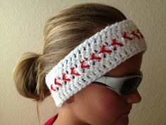 Baseball Headband- Baseball Headwrap- Softball Headband........okay,  who of my friends can make this for me??