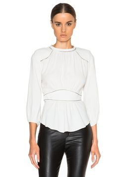 Wiley Embroidered Crepe Top