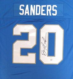 Barry Sanders Signed Jersey  Mitchell  Ness 48  PSADNA Certified  Autographed NFL Jerseys -- Read more at the image link. (This is an affiliate link and I receive a commission for the sales)