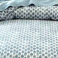 Organic Stamped Dots Duvet Cover + Shams - Moonstone