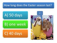 Use this fun Easter quiz to get pupils excited about Easter. 20 questions, with answers included