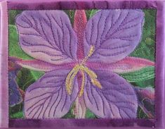 Fireweed quilted greeting card