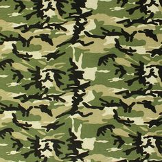 Black Green Camoflage Cotton Jersey Blend Knit Fabric :: $6.00