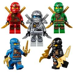 Buy LEGO Ninjago Ninja's set of 5 - Lloyd, Cole, Jay, Kai, Zane Zukin Robes minifigures (2015) at Walmart.com