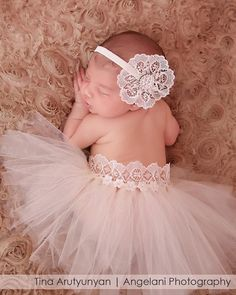 Ivory lace headband newborn headbands Baby от ChiCrystalsBoutique, $23.99