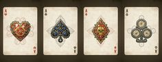 Steampunk Pirates Playing Cards.  USPCC printed.  Created by Nat Iwata.