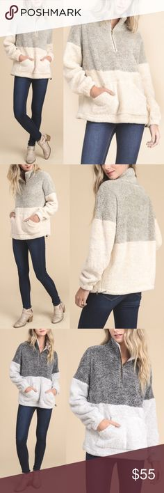 PRE-ORDER GEORGIA Fuzzy Sweater - TAUPE PRE-ORDER jan 5th  You won't want to take this beauty off!  So so soft.    Fits true to size  NO TRADE, PRICE FIRM Bellanblue Sweaters
