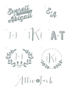 CUSTOM WEDDING Logos & Monograms II by pushpapers on Etsy, $15.00
