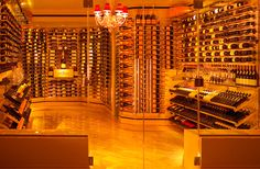Warm and spacious, this wine cellar almost looks like a special art exhibition!