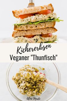 Have you ever tried making Vegan Tuna before? Turns out it's SUPER easy! It tastes delicious as a vegan tuna salad, as a filling for vegan tuna sandwiches, or simply with fresh bread. Read on to follo Vegan Sandwich Recipes, Healthy Sandwiches, Vegetarian Recipes, Healthy Recipes, Vegan Tuna Salad Recipe, Salad Recipes Vegan, Healthy Tuna Sandwich, Vegan Sandwich Filling, Vegan Chicken Salad